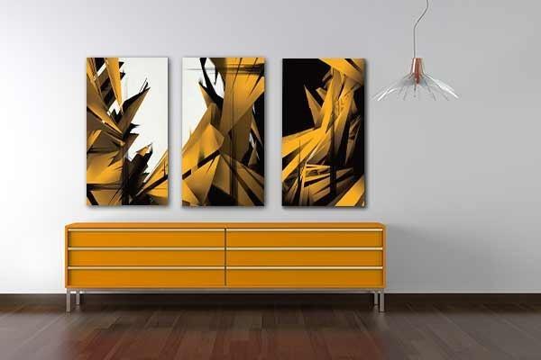 J\'adore mettre dans ma chambre un tableau abstrait
